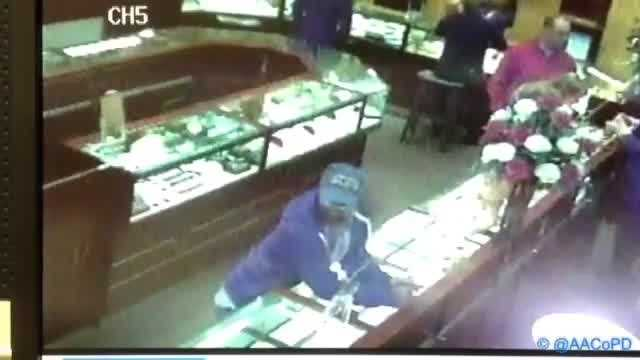 Anne Arundel County police say they are looking for four thieves who struck at a Hanover jewelry store.