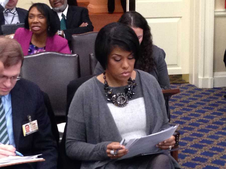 Jan. 17: Mayor Stephanie Rawlings-Blake prepares to address the Baltimore City delegation about a variety of issues, including the city's Annapolis agenda.