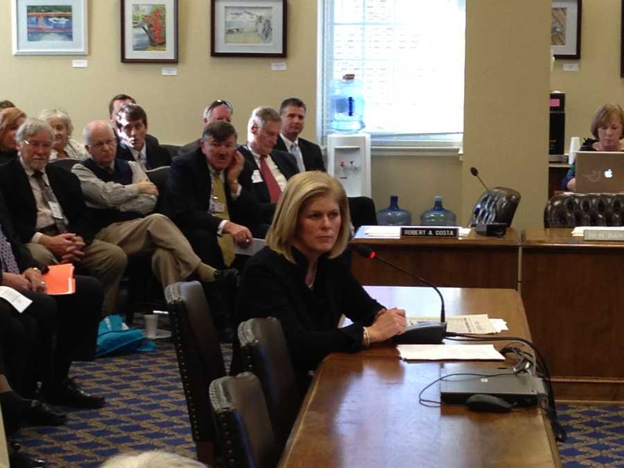 Jan. 17: Anne Arundel County Executive Laura Neuman addresses the county delegation in Annapolis.