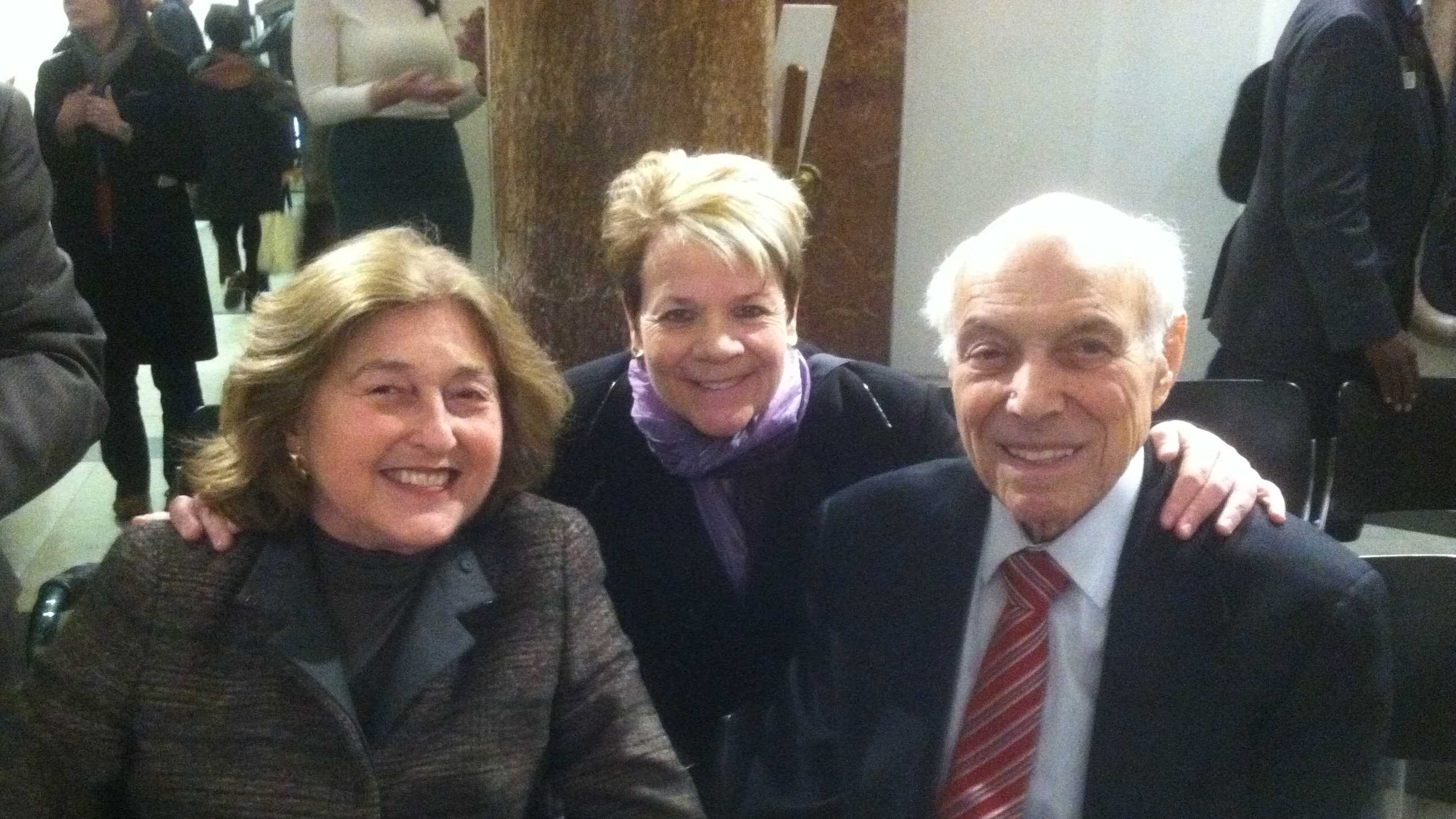 Philanthropists Rheda Becker and Robert E. Myerhoff with BSO music director Marin Alsop