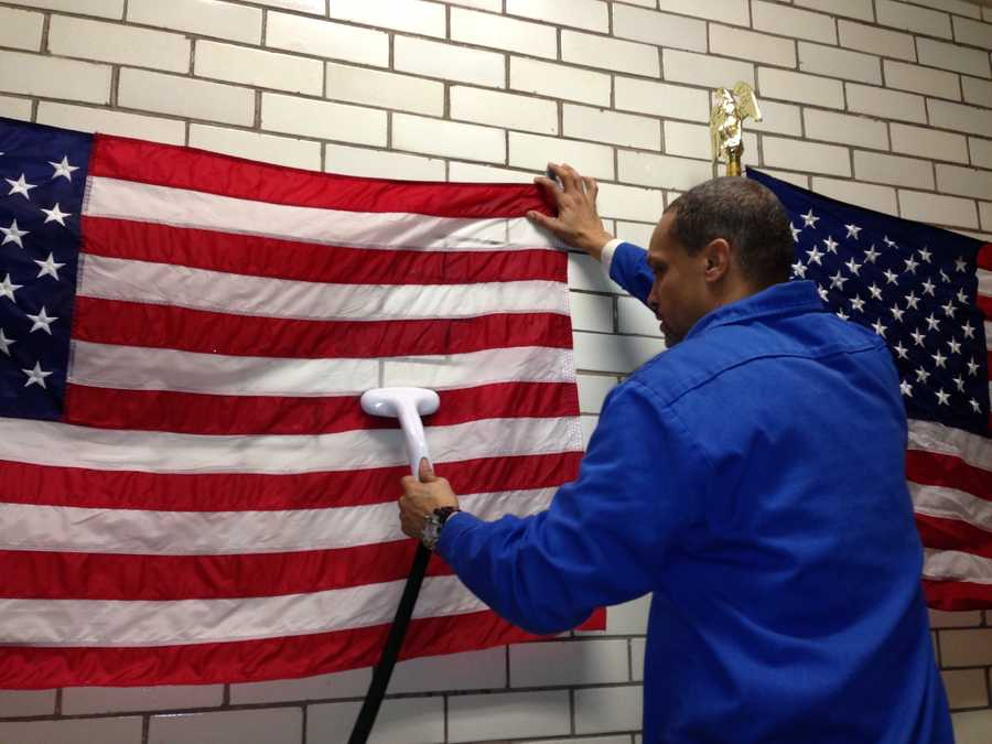 Jan. 21: The steaming is to make the flags presentable for the annual address.