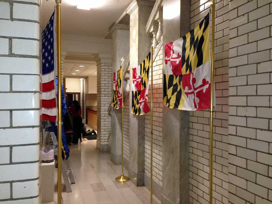 Jan. 21: Flags in line to be de-wrinkled prior to the annual State of the State address.