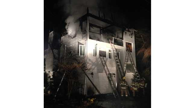 Columbia Beach Road fire in Shady Side