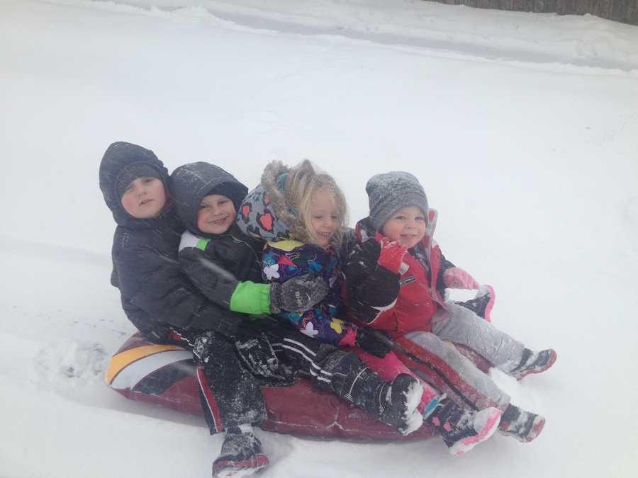 Jaiden, 7, Logan, 5, Gabby, 4, and Jesse, 2, in Hanover.