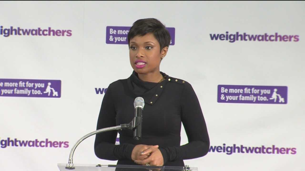 Weight Watcher's ambassador and Academy Award winner Jennifer Hudson makes a stop in Baltimore to promote the expansion of the city's BMoreFit program.