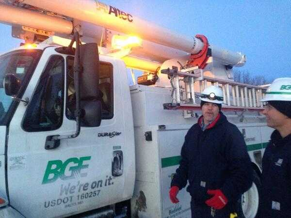 BGE crews keep at it in Union Mills, Carroll County
