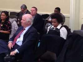 Jan. 24: U.S. Senator Ben Cardin gets set to address the Baltimore City delegation.
