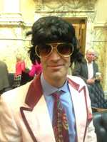 Delegate Jon Cardin is plunging on Saturday dressed as Elvis.