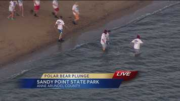 The 18th annual Maryland State Police Polar Bear Plunge, which benefits the Maryland Special Olympics, kicked off Friday.