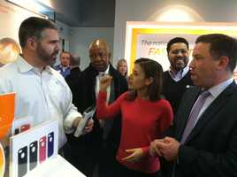Rep. Elijah Cummings, Howard County Executive Ken Ulman and other officials took time Monday to patronize Columbia Mall.