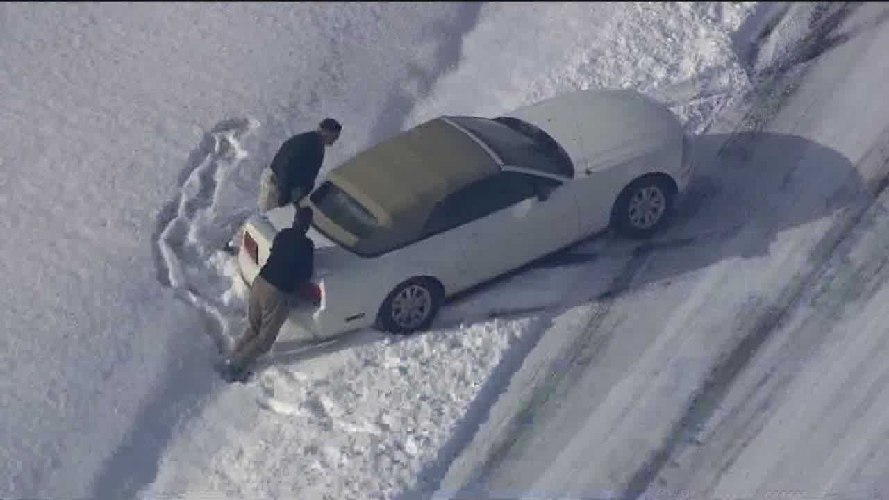 On Wednesday, folks on the Eastern Shore woke up to 3-4 inches of fluffy snow, just enough to cause some cars to slide off the road and close schools yet again