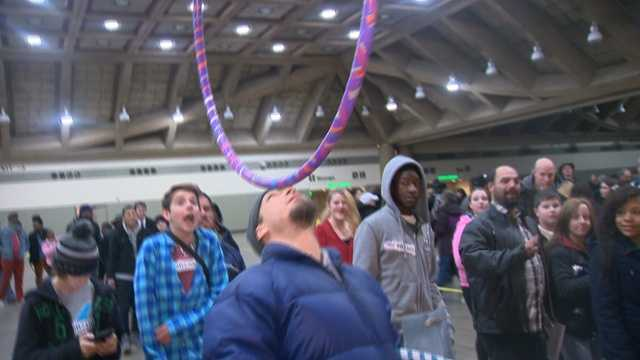 "WBAL-TV 11 News goes inside the Baltimore Convention Center to meet some of the people auditioning for NBC's hit show, ""America's Got Talent."""