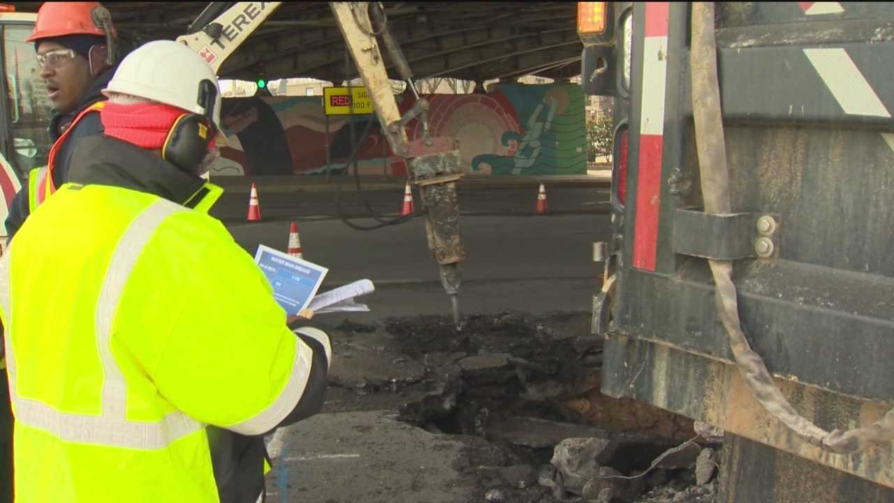 DPW officials call January one of the worst on record for water main breaks in Baltimore.