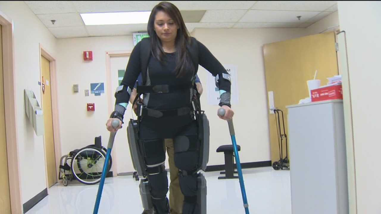 A scientific achievement is changing the life of Marcela Turnage, who was paralyzed when she was 19, by allowing her to take steps again using a robotic exoskeleton.