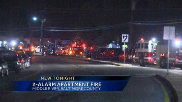 Middle River apt fire scene