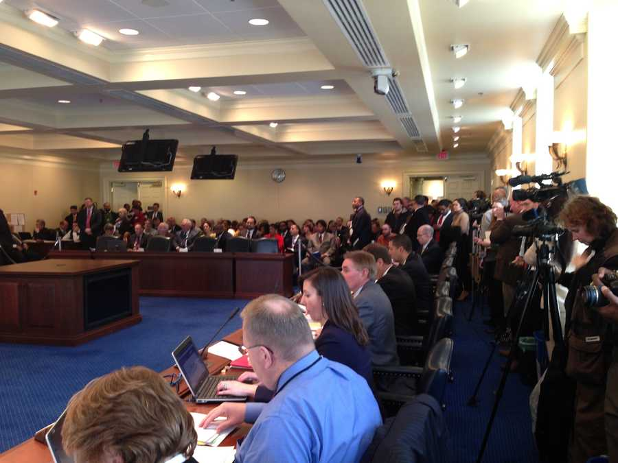 Feb. 11: More than 100 people signed up to testify at the minimum wage bill hearing in Annapolis.