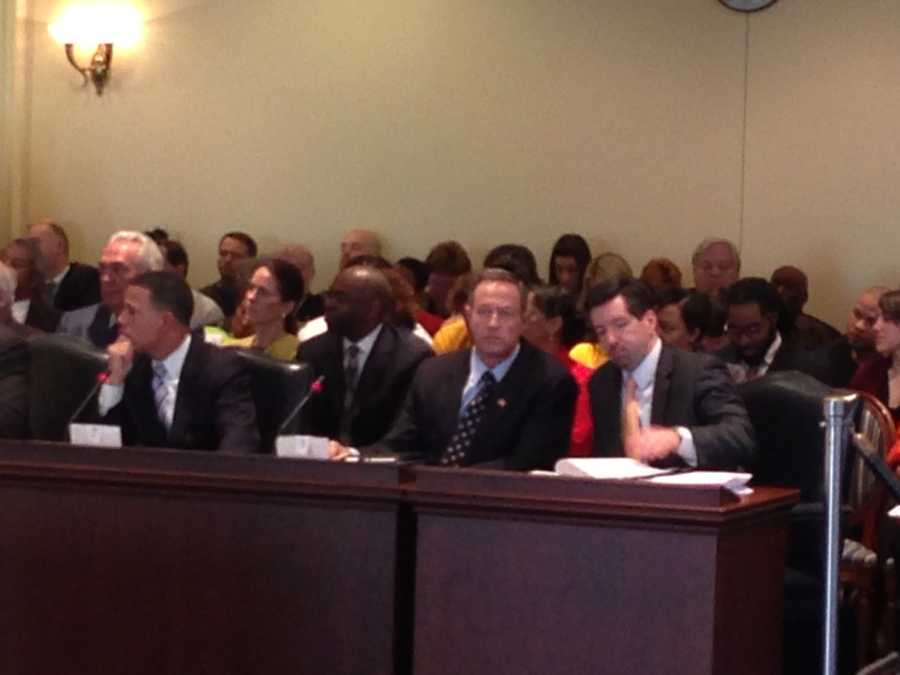 Feb. 11: Gov. Martin O'Malley attends the minimum wage bill hearing in Annapolis.