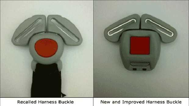Recalled graco seat latch