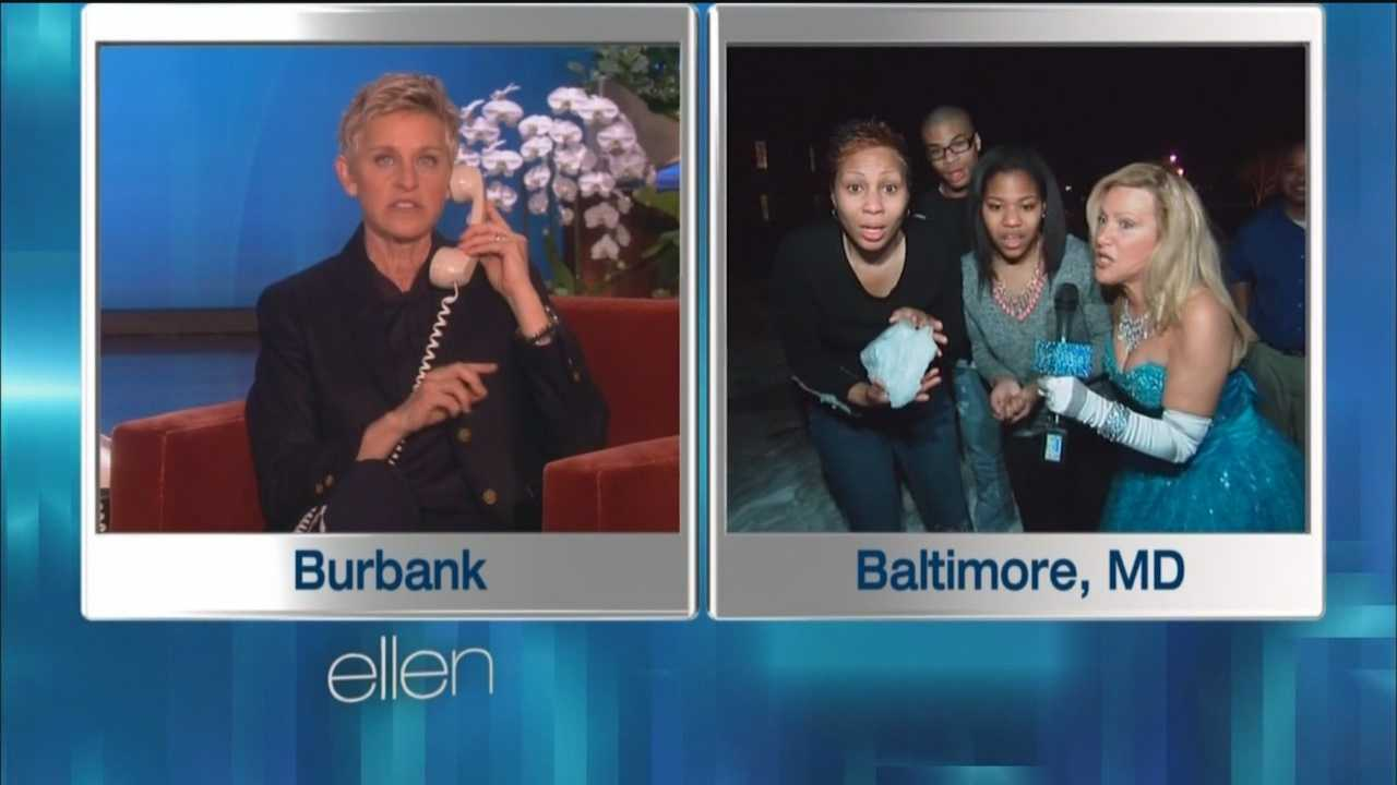 "Hamilton's of Ellicott City were surprised with a generous amount of money for playing the Ellen Show's ""Cash at Your Door"" game."