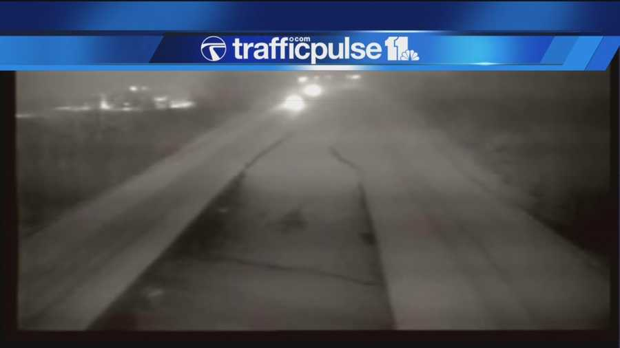 I-795 coated at 5 a.m. Thursday.