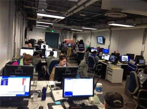 The Maryland Emergency Management Agency is hard at work during the storm.