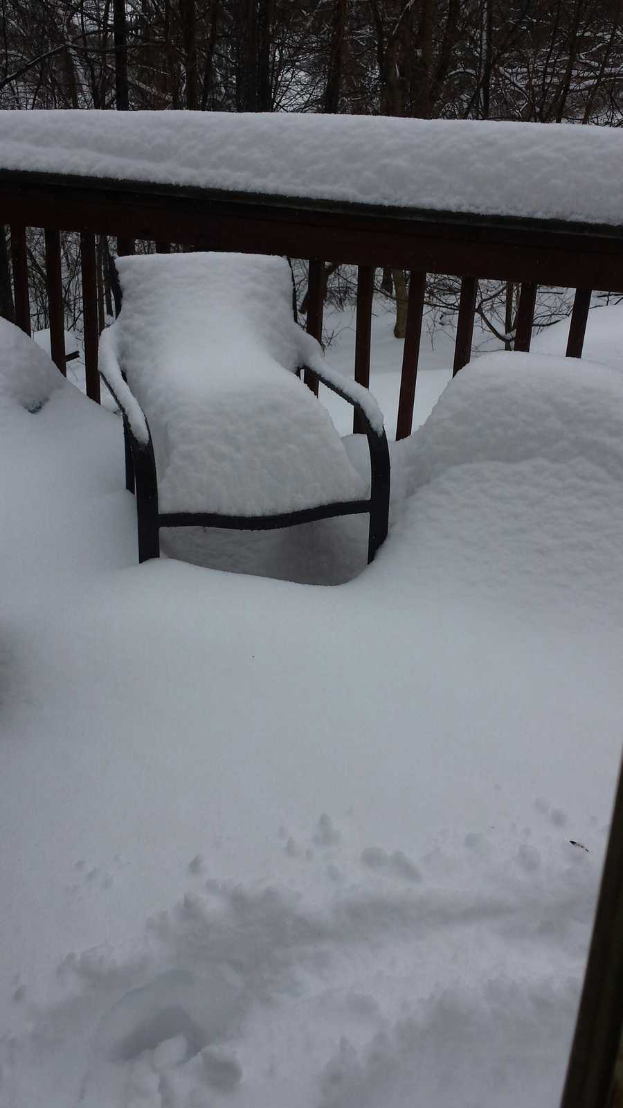 "Laura from Phoenix, Md. says they are ""trying to find our cars and the deck."""
