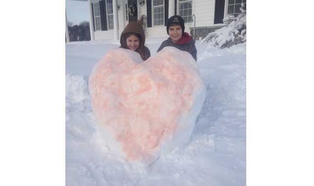 Valentine's Day snow fun for the Wunder kids in Westminster