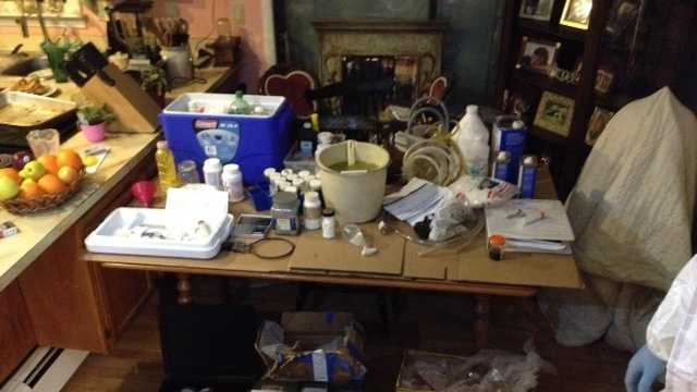 Meth equipment, chemicals