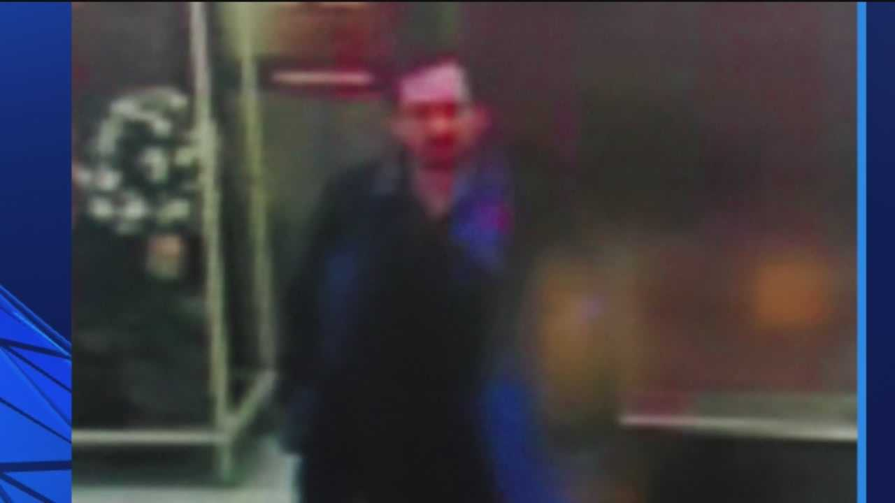 A surveillance photo of one of the two possible men wanted in connection with several indecent exposure incidents.