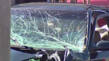 A four-car crash in west Baltimore on Sunday morningkills a man and injures several, including a 2-year-old girl.