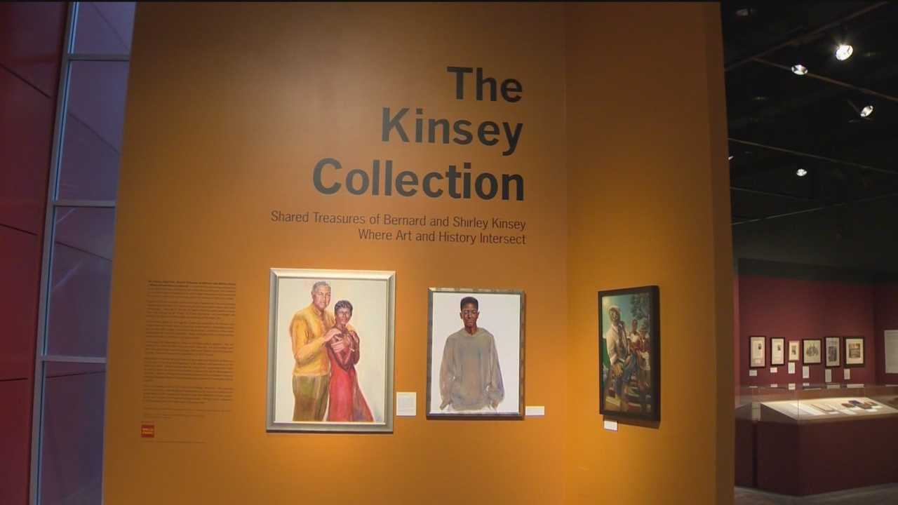 The Kinsey Collection is a traveling national exhibit that showcases private artifacts and arts that relate to black history from Bernard and Shirley Kinsey, who are big collectors and philanthropists.