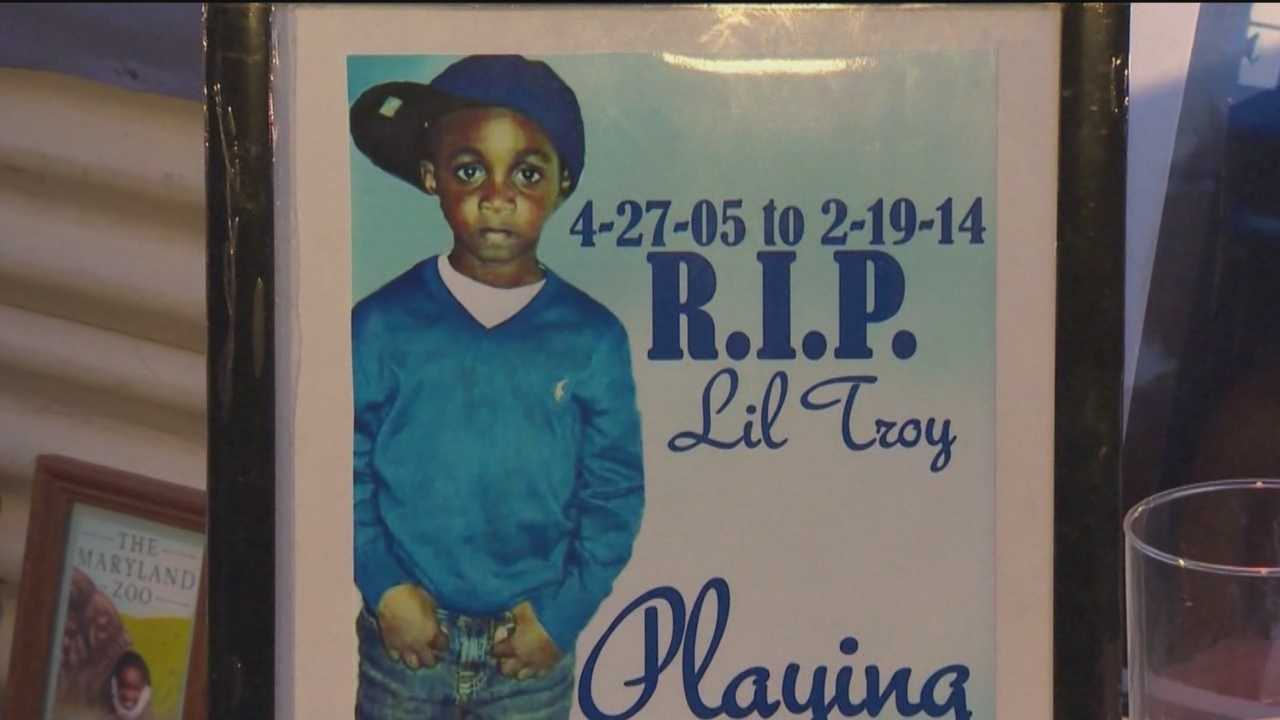 The victim of a rowhouse collapse, 8-year-old Troy Douglas was killed last week when he was in the wrong place at the wrong time. Troy was laid to rest on Wednesday,