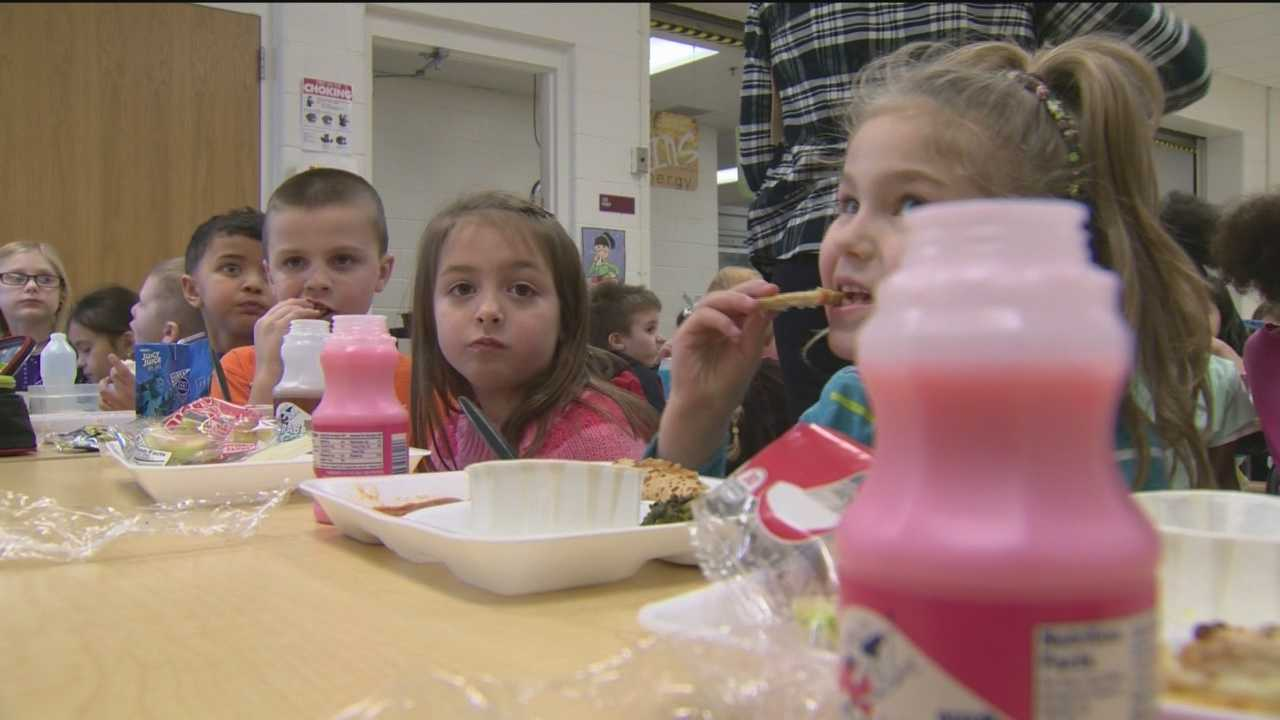 At the Ferndale Early Education Center in Glen Burnie pizza is still popular doing the lunch hour, but so are fruits and vegetables. The school district has made healthy eating choices a top priority.