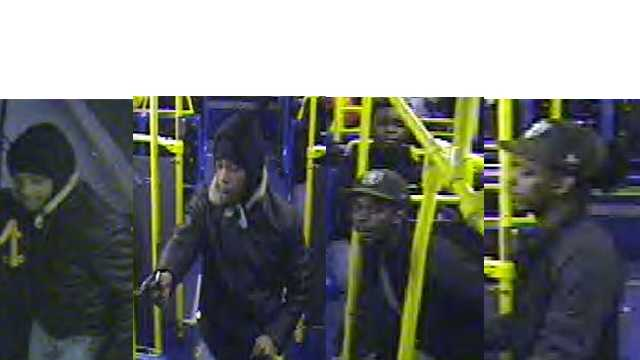 Police say the man pictured in the 2 left photos is a suspect, while the man in the two right photos is a person of interest.