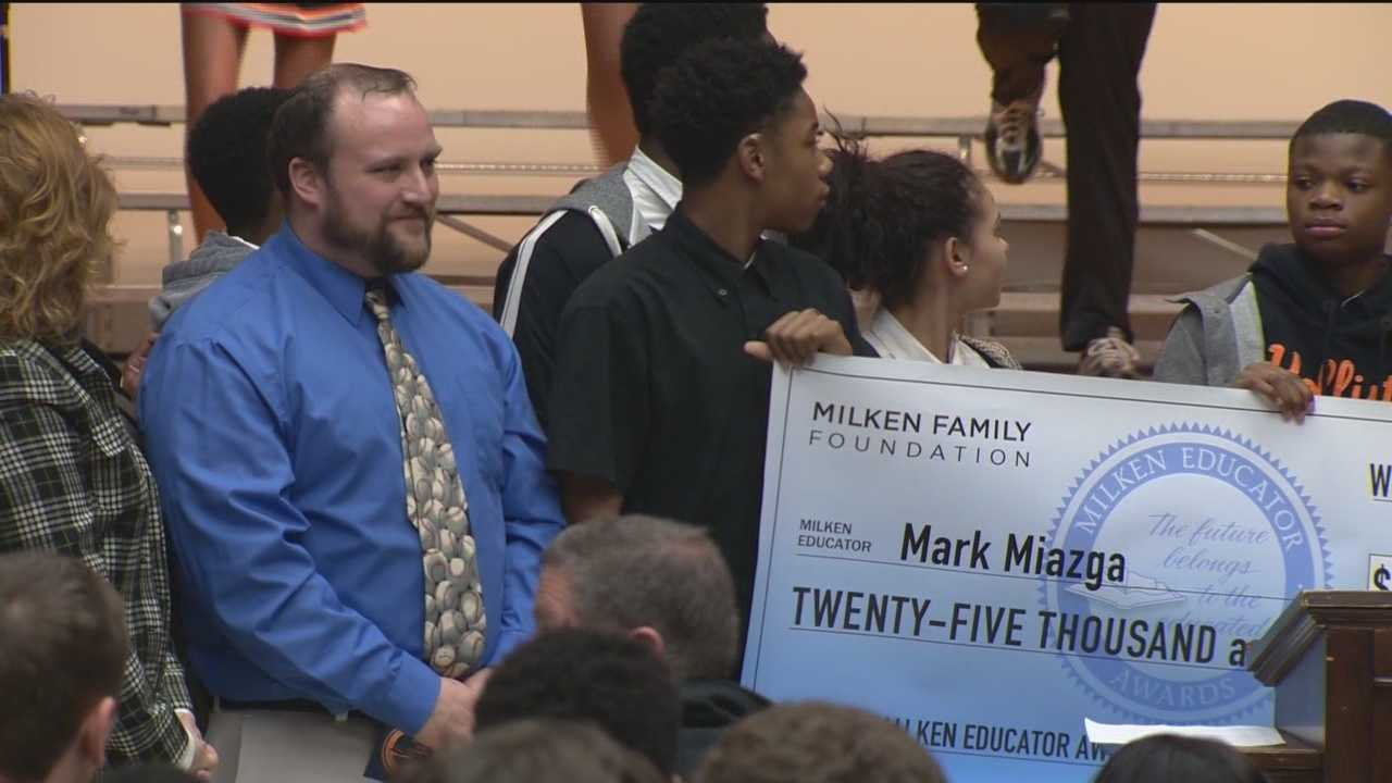 BA Baltimore City College High School teacher found out on Thursday he was one of the winners of the Milken Educator Award.