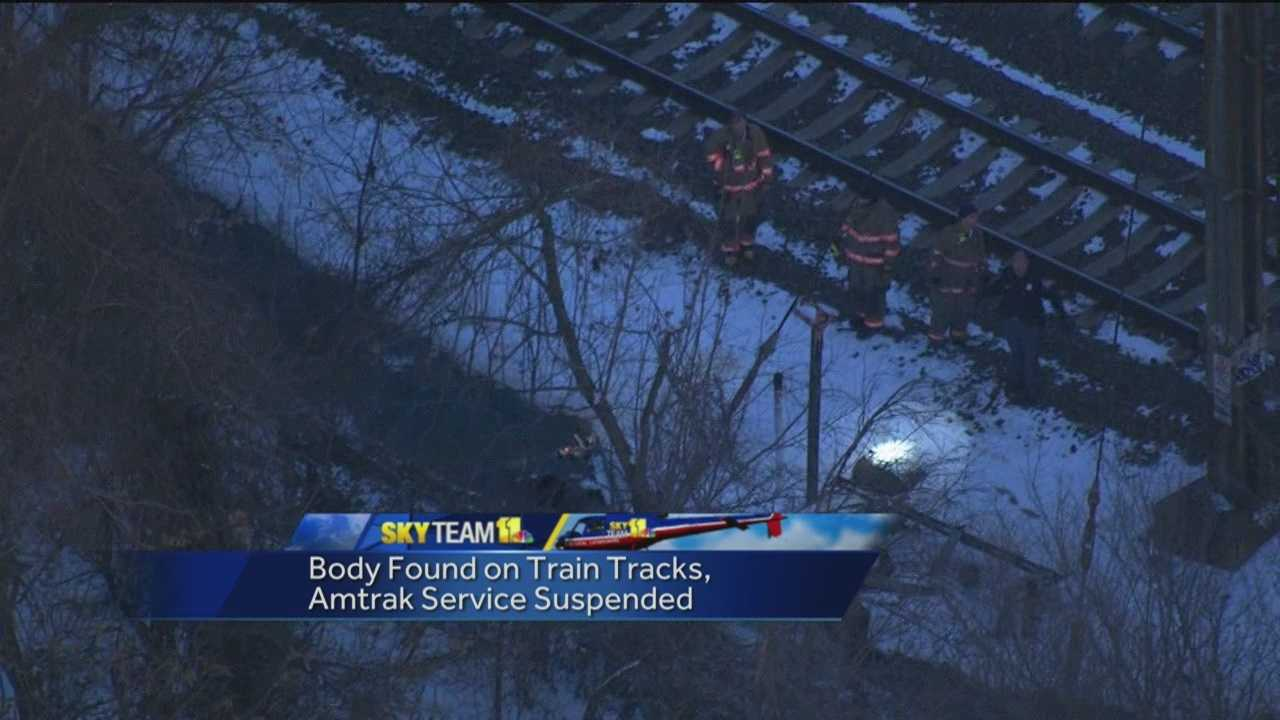 man hit by train scene