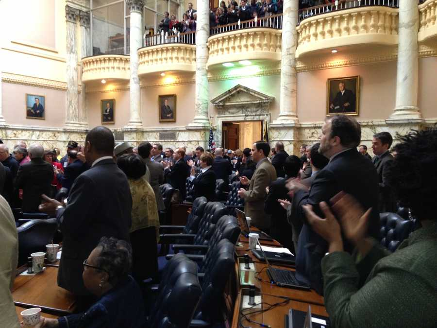 March 5: House Speaker Michael Busch says in his 28 years in Annapolis, he'd never seen a larger standing ovation than the one he witnessed for the Vietnam vets.