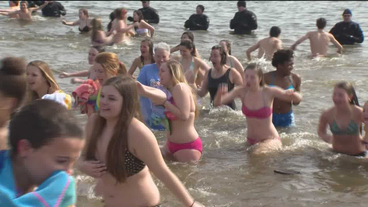 Students from all across Maryland converge on Sandy Point State Park for the Cool Schools Challenge to take a dip in the frigid Chesapeake Bay and raise some money for Special Olympics Maryland athletes.