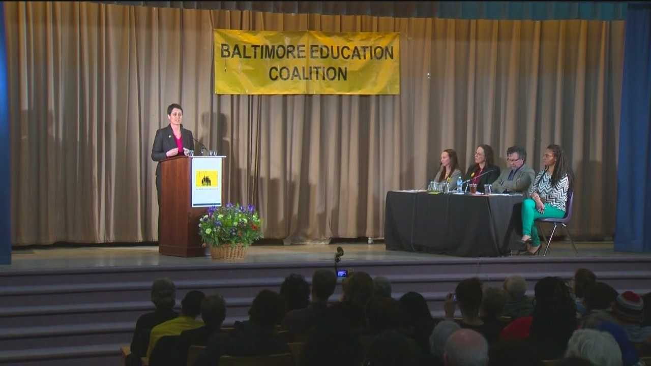 The three Democratic candidates for governor got face time with potential voters during a forum focused on the future of Baltimore City schools and their plans for education.