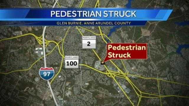 pedestrian crash scene map