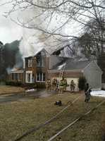 A blaze destroyed a vacant home in Severn, fire officials said.