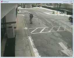 Suspect outside McDonald's