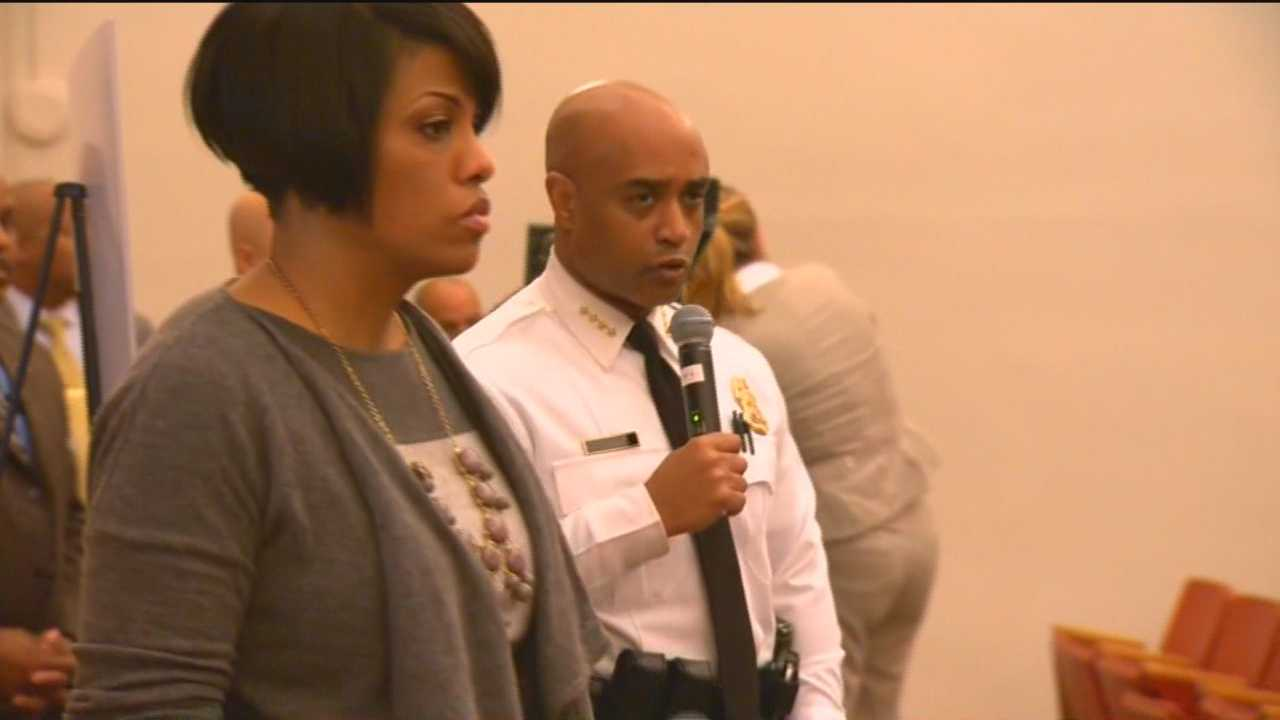 Baltimore Police Commissioner Anthony Batts and Mayor Stephanie Rawlings-Blake