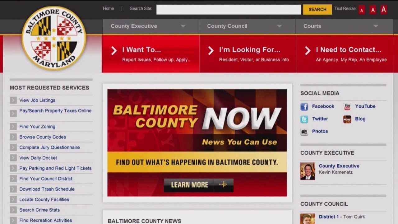 Baltimore County residents will have the opportunity to voice their complaints online through the new code enforcement system.