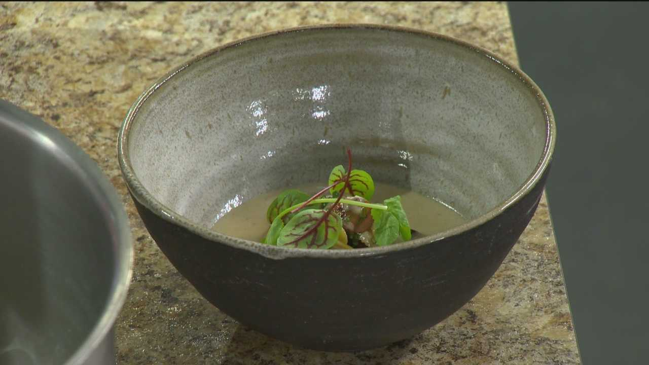 PABU Restaurant's Jonah Kim demonstrates a recipe for Asian chowder.