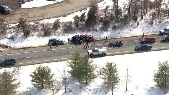 Several vehicles collided on eastbound Route 100 in Pasadena. Read the full story here