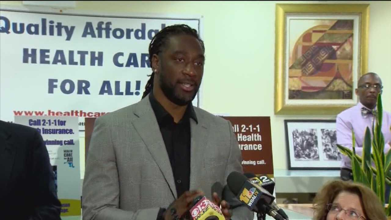 Health advocates are hoping Ladarius Webb can get people to sign up for health insurance as he will now be appearing in radio ads in Baltimore.