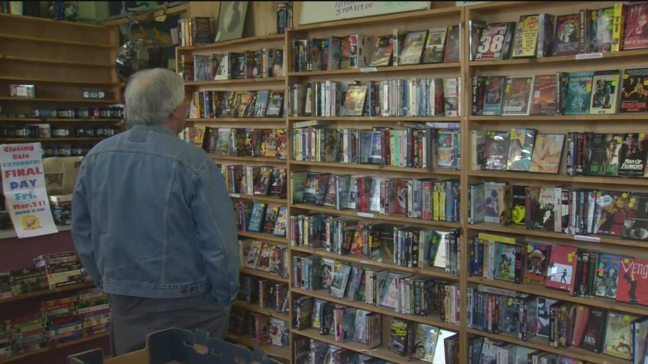 Customers could rent movies with Ingrid Bergmen as Joan of Arc or Lucille Ball and Desi Arnaz in the Long Long Trailer, but instead customers were buying those old movies on the store's last day.