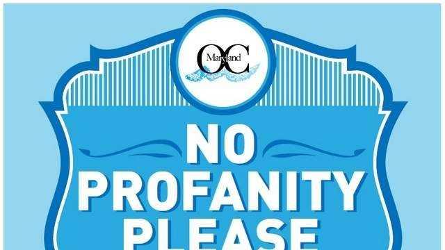 Ocean City no profanity signs