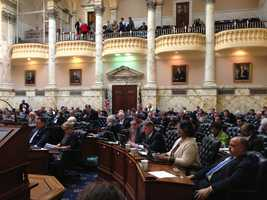 March 26: The House of Delegates takes up the governor's $39 billion budget.